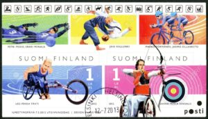 21631865-finland-circa-2012-a-stamp-printed-in-finland-shows-finnish-champions-in-disabled-sports-wheelchair-stock-photo